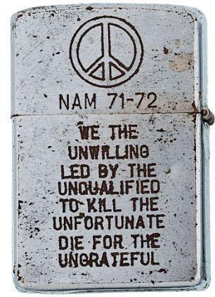 Unfortunate Die For The Ungrateful,Zippo,Lighter,Zippo Lighter,Lighter,No Smoking,Smoking,Smoking Kills,War,Zippo War,