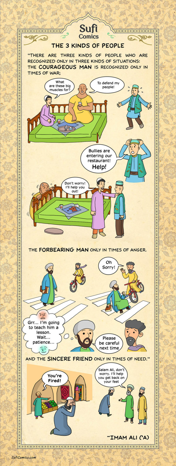 The 3 Kinds of People,Three kinds of People,3 kind of people,friends,think ,Hazrat Ali,Imam Ali,Muslims,Islamic Teachings,Islamic Teaching,Sufi Comic,Sufi,Comic.Islamic Comic