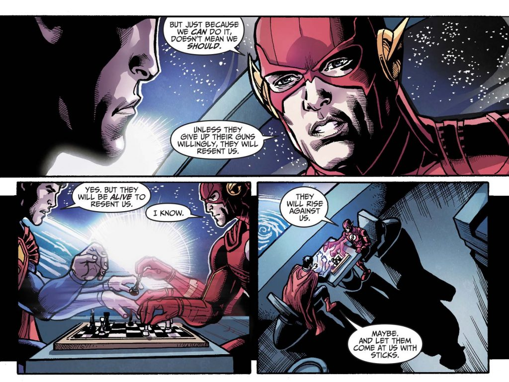 FLASH EXPLAINS WHY YOU CAN'T ENFORCE PEACE,FLASH, EXPLAINS WHY YOU CAN'T ENFORCE PEACE,ENFORCE PEACE,PEACE,superman vs flash,flash vs superman,flash and superman race,race superman and flash,justice league,jjustice league animated,justice league comic,flash comic,superman comic,flash vs superman comic,flash playing chess,superman playing chess