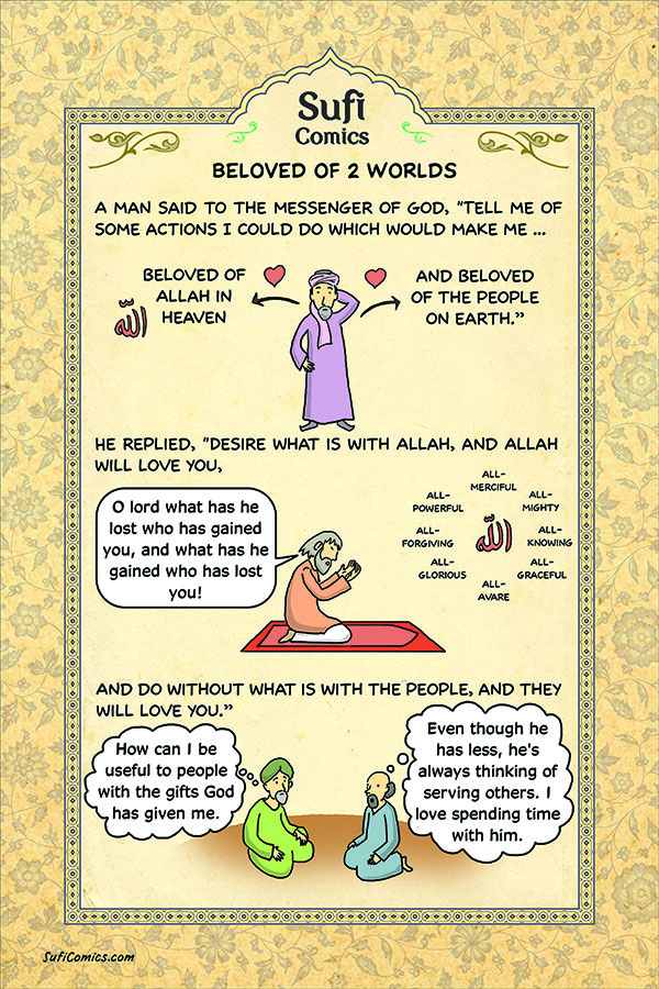 Beloved Of Two Worlds - Sufi Comics,Beloved Of Two Worlds,Sufi Comics,Saying Of Holy Prophet (P.B.U.H),Holy Prophet (P.B.U.H)