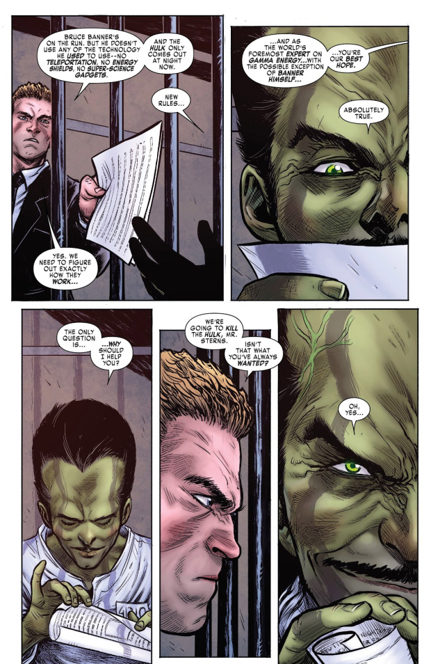 WHY THE LEADER IS DANGEROUS (HULKVERINES #1),WHY THE LEADER IS DANGEROUS,HULKVERINES 1,HULKVERINES,HULK,THE LEADER ,Mavrel Comics,marvel comic,marvel,comic,Marvel villain,Evil,villain,prison escape,