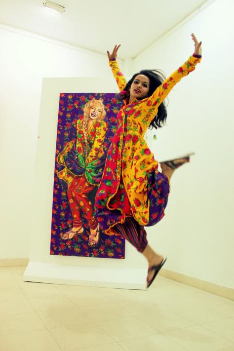 Summaiya Jillani,Painting the Iconic Marilyn Monroe,Painting the Iconic,Marilyn Monroe