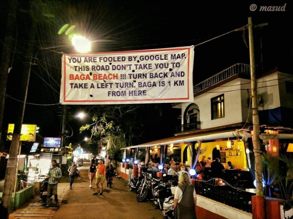 Baga Beach Goa,Goa beach,India,Google,google map,google map funny,google map wrong,google map correction