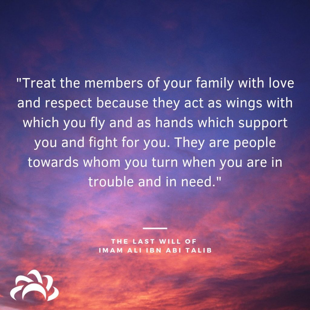 Treat The Members Of Your Family With Love And Respect