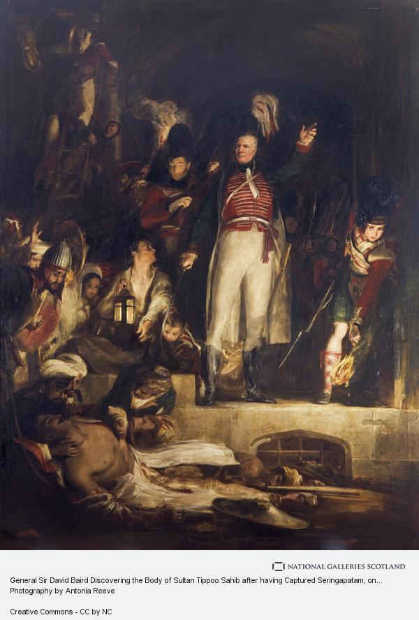 General Sir David Baird,Discovering the Body of Sultan Tippoo Sahib,Sultan Tippoo,Sultan Tippu,tippu Sultan,Wars and Conflicts By Sir David Wilkie